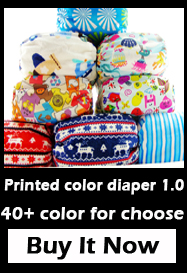Infant shine baby cloth diapers have one cloth nappy cover and cloth diaper insert and liner