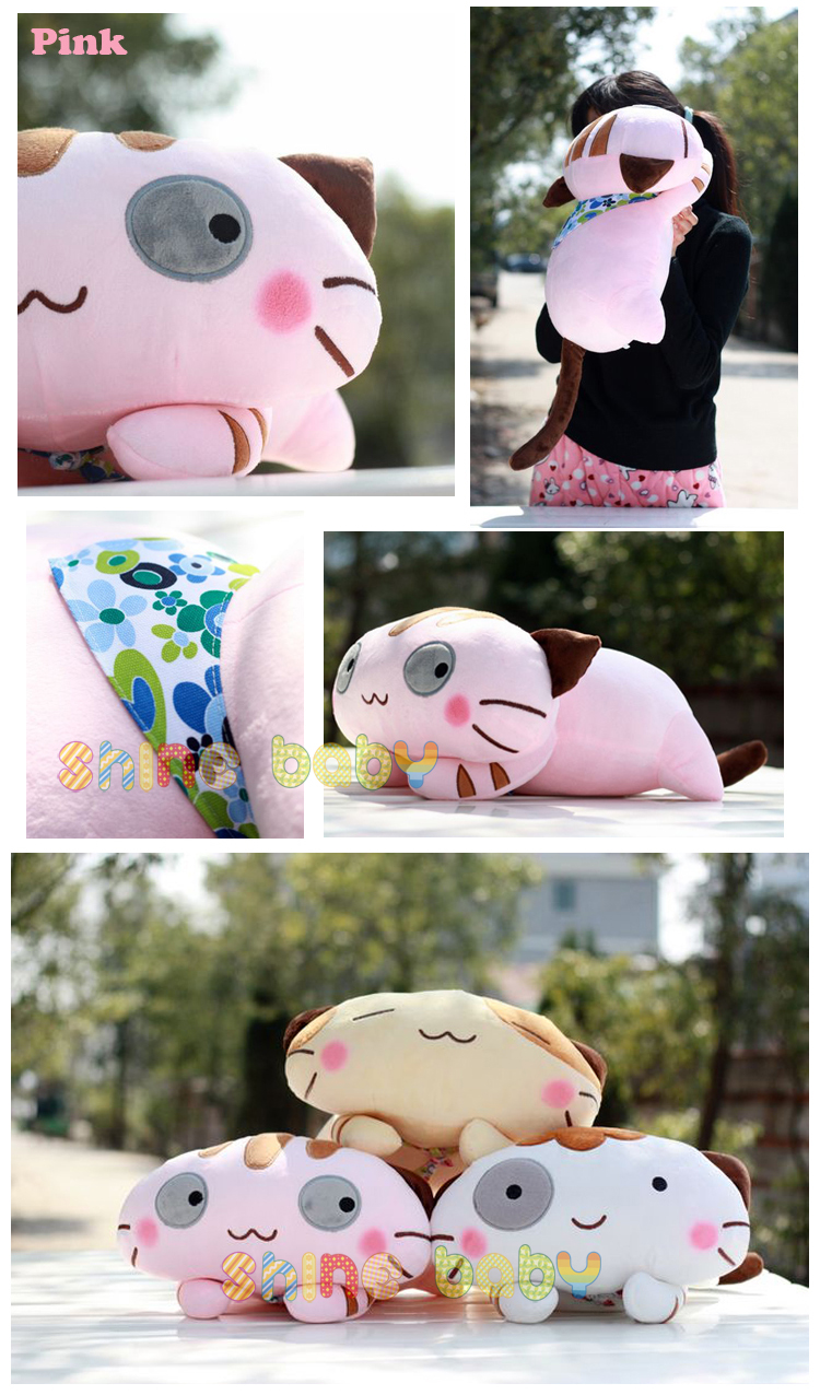 Cute Pillow Doll : Stuffed Animal Plush Doll Toy Cute Cat Pillow Quality Bolster Gift 42cm16