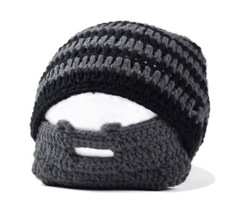 Men Scarf Knitting Patterns : Men Crochet Beard Beanie Mustache Mask Face Mask winter Warmer Ski Knit Hat C...