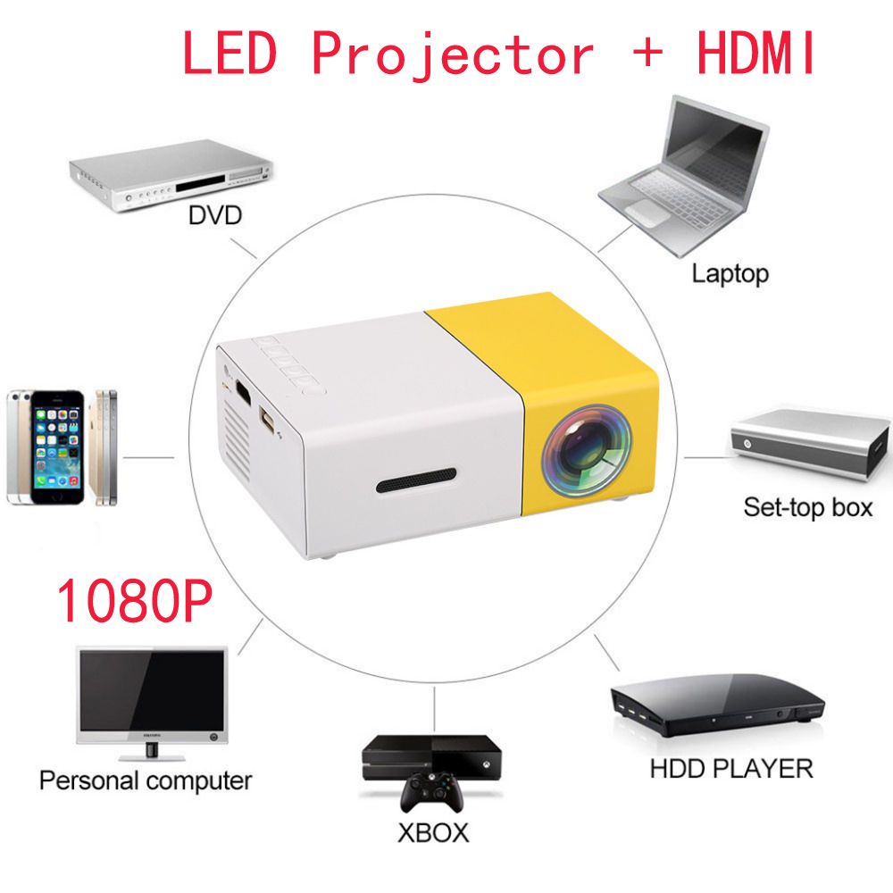 Mini 1080p Full Hd Led Projector Home Theater Cinema 3d: DLP Home Cinema Projectors Full HD Mini Smart Projector