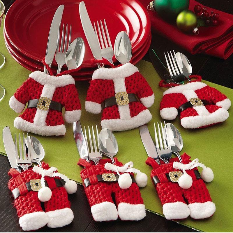 Pop Happy Santa Claus Tableware Silverware Suit Christmas Dinner Party ...