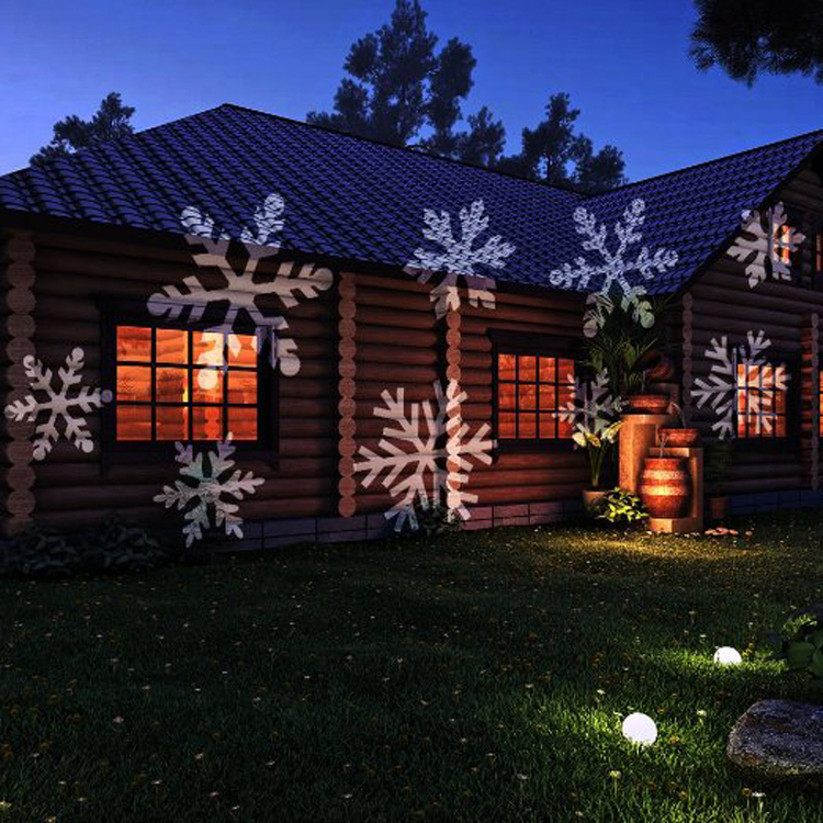 Moving Outdoor LED lights Snowflake Laser Light Projector