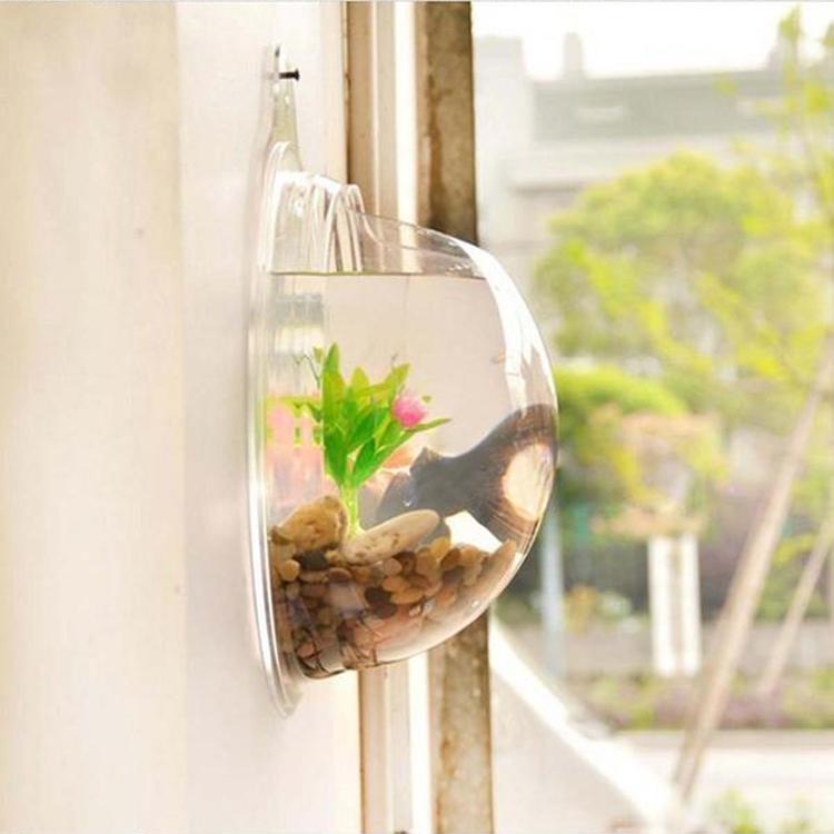 Fish wall mounted bowl aquarium hanging tank home - Wall mounted fish aquarium ...