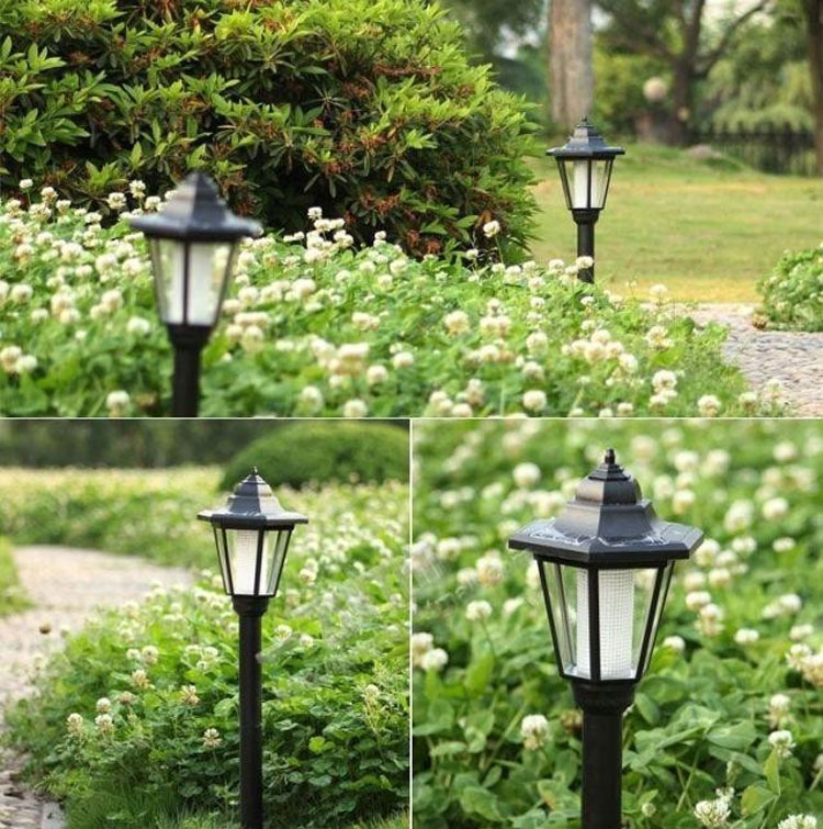 Outdoor Solar Power Light LED Path Wall Landscape Mount Garden Yard Fence Lam
