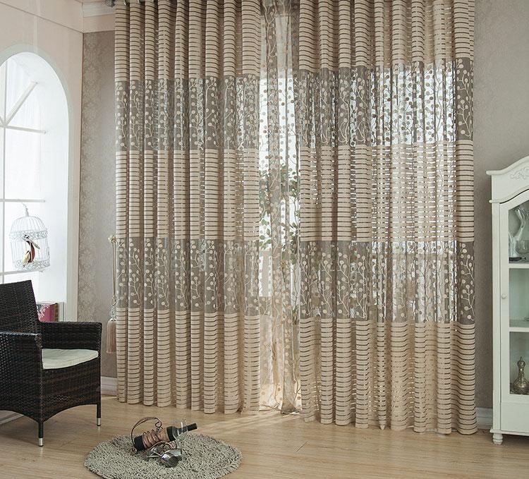 Modern Tulle Window Living Room Balcony Curtain Drape Panel Sheer Scarf Valances Ebay
