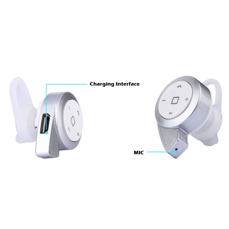 Mini Wireless Bluetooth Headset Music Earphone Earbud Earpiece For Iphone 7 6s