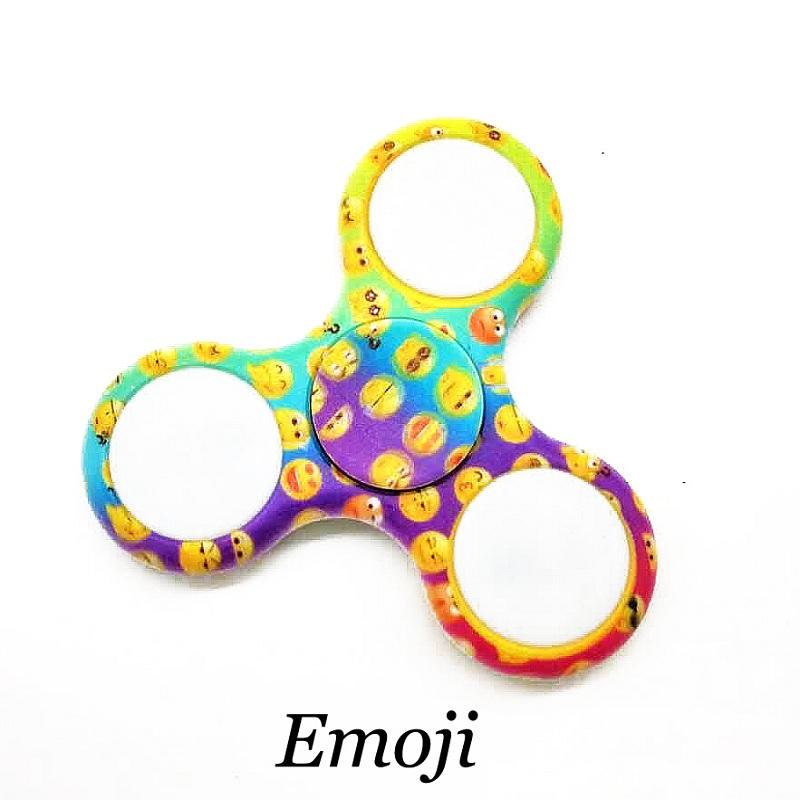 Emoji led light hand spinner tri fidget spinner desk focus for Light up fishing spinners
