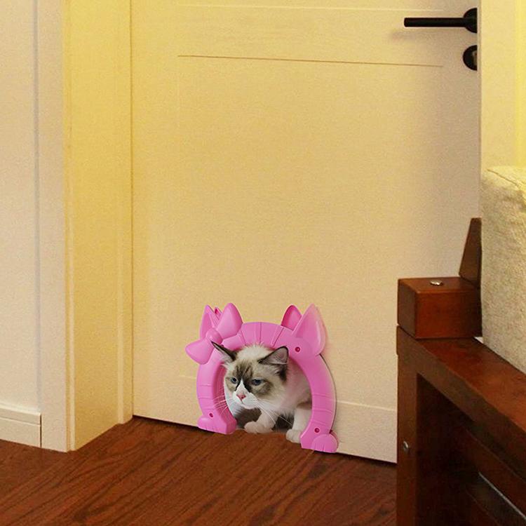 Interior Cat Door Pet Kitty Pass Kittens Standard Door Cute Cats