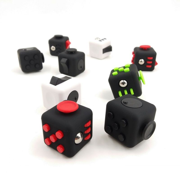 Details about Fidget Cube Spinner Toy Gifts Kid Desk Adults Stress Relief  Cubes ADHD 6Sides LT