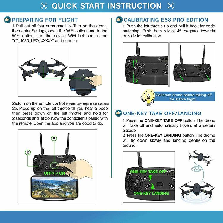 Drone X Pro WIFI FPV 4K HD Wide Angle Camera Foldable Selfie RC Quadcopter L6UK
