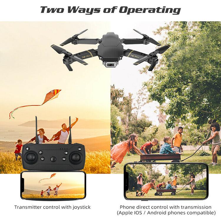 Drone X Pro WIFI FPV HD 4K Camera 1 Batteries Foldable Selfie RC Quadcopter LCUK